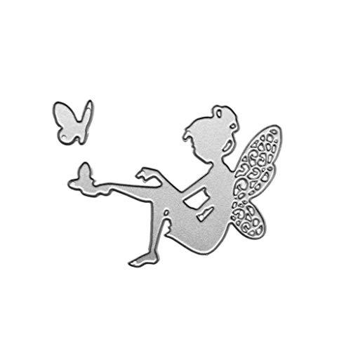 JERKKY Troqueles de Corte para Tarjetas, Troqueles de Corte de Metal de Hadas de Mariposa Plantilla DIY Scrapbooking Álbum Sello Tarjeta de Papel Estampado Decoración Artesanal