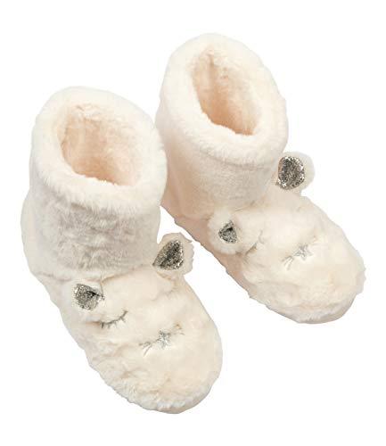 YSTRDY Zapatillas de estar por casa con cara de animal y orejas brillantes, talla 38/39 (134-266)