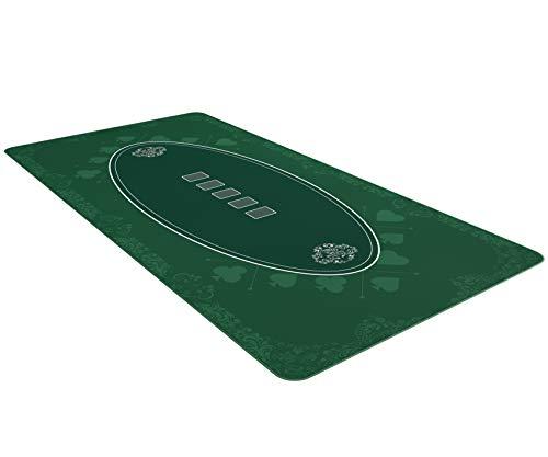 Bullets Playing Cards Tapete Cartas Poker Profesional y Juegos de Mesa 200 x 100 cm para tu Propia Mesa de póquer - Alfombra tapete Texas Holdem Antideslizante Verde Premium XXL