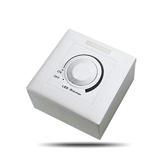 CandyT DC 0-10V LED regulador de Intensidad Regulable Controlador LED regulador de Intensidad para luz Regulable Foco empotrable Bombilla LED (Negro)