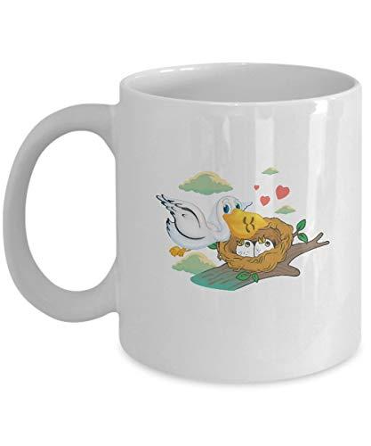 Vogelliefhebber Koffie Beker - Witte Pelikaan Geschenken - 11 oz Keramische Mok