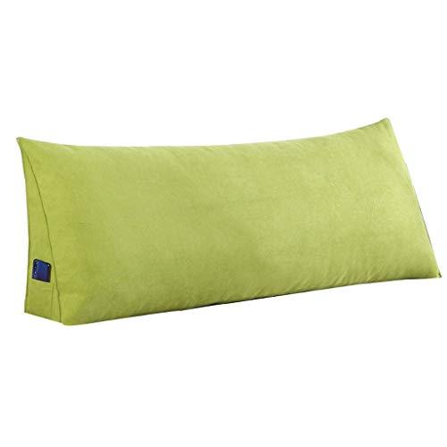 Home Simple Bed Stirnband Double Back Sofa Erker Freizeit Kopfstütze, abnehmbar und waschbar, Multi-Size-Dreieck-Rückenlehne, weicheren Stoffen (Color : Smoke Gray, Size : 120 × 20 × 50cm)