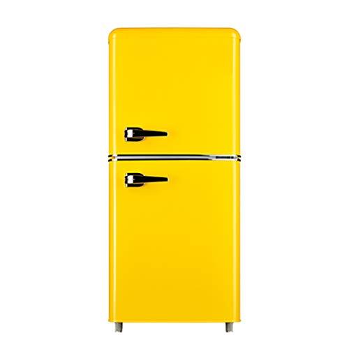 JF Fashion Standard Refrigerador   132L Ajuste de temperatura de 7 velocidades Silencios Ahorro de energía Adecuado para el hogar, oficina, tienda