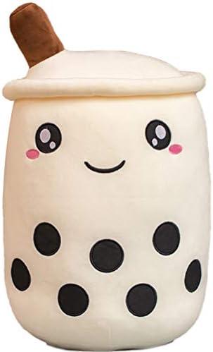 Boba Plushie Kawaii Stuffed Toy, 24cm/9.4inch Cute Soft Design Bubble Tea Plush Toys for Girls & Boba Lovers