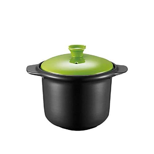 SCRFF Casserole Cuisinière céramiques à Usage Domestique Pot avec Couvercle Convient, marmite à Soupe de Grande capacité résistant à la Chaleur Pot Riz Porridge Pot