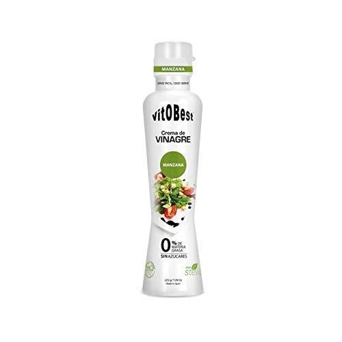 Crema de Vinagre varios Sabores- 0% Materia Grasa Sin Azúcar añadido - Suplementos Alimentación y Suplementos Deportivos - Vitobest (Manzana)