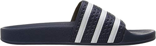 adidas Men\'s Adilette Shower Slides Sandals, Blue/White Blue, 7