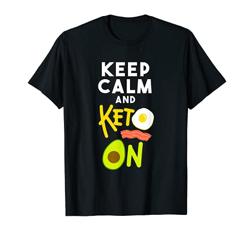 Keep Calm and Keto on Ketogenic Diet ファニーアボカドギフト Tシャツ