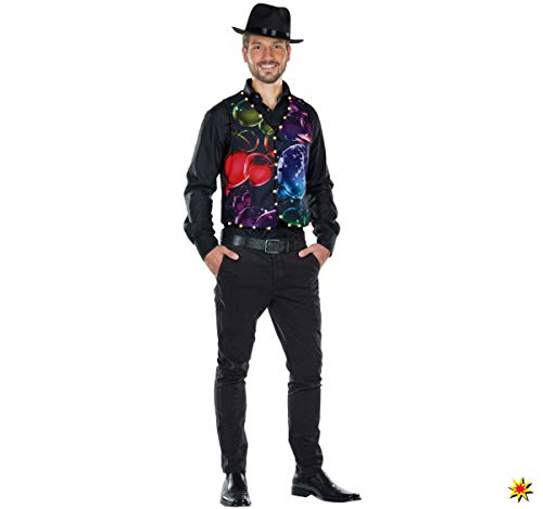 Mottoland Herren Kostüm LED Seifenblasen Weste Karneval Fasching Gr.48/50