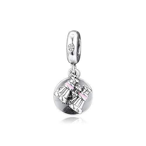 Joyería De Plata De Ley 925 para Mujer Binoculares De Corazón Abalorios Se Ajustan A Pulseras Pandora Europeas Collares Fabricación De Joyas DIY