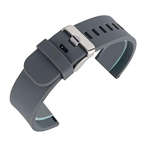 YULUBAIHUO Negro/Azul/Gris/Rojo 18 mm 20 mm 22 mm Impermeable Silicona Reloj de reemplazo Deporte de reemplazo Ourdoor con Hebilla de Perno Buceo Correa de Goma