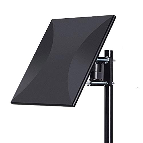Outdoor/Indoor Digital HD TV Antenna with High Gain Amplifier 150 Mile Long Range with Signal Booster Support UHF VHF 4K 1080P Freeview Local Channels, 33FT RG6 Coaxial Cable, Free tv Channels