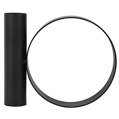 Candle Holder-Innovative Shape Candlestick Iron Candle Holder for Home Decoration Ornament Black