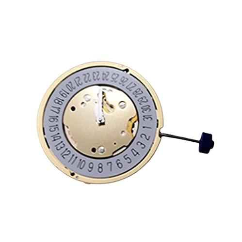 XINGFUQY Reloj Accesorios Suiza Rhonda 5021D Movimiento 5021.D Movimiento de Cuarzo Calendario de Seis bits de Cinco Pines sin batería