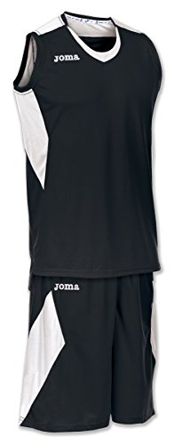 Joma Space Set Basket, Unisex Adulto, Blanco,Negro, 4XL
