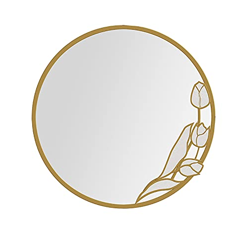 WANGFENG Badezimmerspiegel, kreativ, Perlmutt, Magnolie, amerikanischer Stil, Waschtisch, Wandbehang, Toilette, Antibeschlag, 70 cm, 80 cm