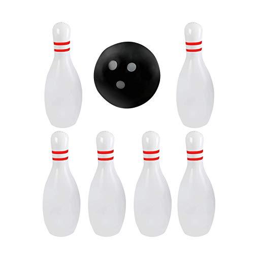 7 Stücke Kreative Aufblasbare Bowlingspiele Outdooe Freizeit Bowling Ball Spiel Set