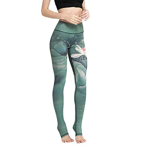 AidShunn Pantalón Deportivo de Deportivas Mujer Leggins Bolsillo Interno Yoga para Pilates Fitness & L