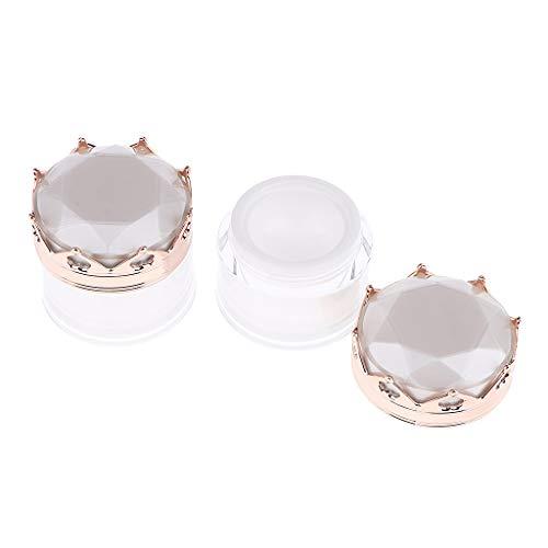 2 Uds.Frascos de Plástico Vacíos Transparentes de 5 Gramos, Frascos de Crema para Bálsamo Labial, Envases Cosméticos