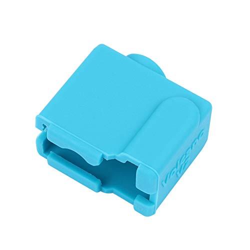 Demiawaking 3D-Drucker PT100 Volcano V2 Heizblock Extruder Patronentyp Silikon Abdeckung Socken Isolierung Hülle Schutzhülle (Blau)