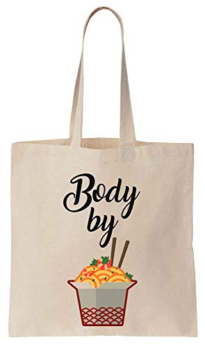 Finest Prints Body Made By Ramen Cool Design Cotton Canvas Tote Bag