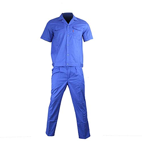 NC Survêtement de camping pour homme en coton polyester, pour fer à souder, électrique, résistant à l'usure avec réparation automatique, bleu à manches courtes 6008