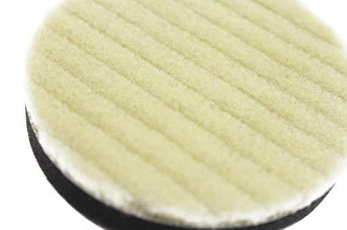 Olive-G3個セットポリッシャー用ウールバフウールパットマジック式80mm(中目)