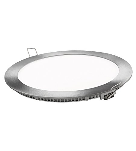 Matel Downlight LED, 18 W, Plata