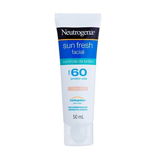 Protetor Solar Sun Fresh Facial Controle de Brilho com Cor Fps 60, Neutrogena, 50 ml