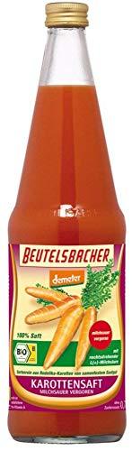 Beutelsbacher Bio Karottensaft milchsauer sortenrein Demeter (6 x 700 ml)