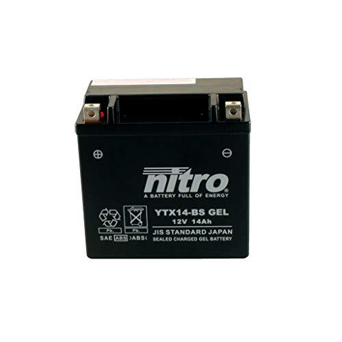 Batería 12 V 12 Ah YTX14-BS Gel Nitro 51214 VRSCA V-Rod 02-06 ⭐