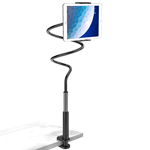 Tryone Gooseneck Tablet Stand, Tablet Mount Holder for iPad iPhone Series/Nintendo Switch/Samsung Galaxy Tabs and more, 37.3in Overall Length