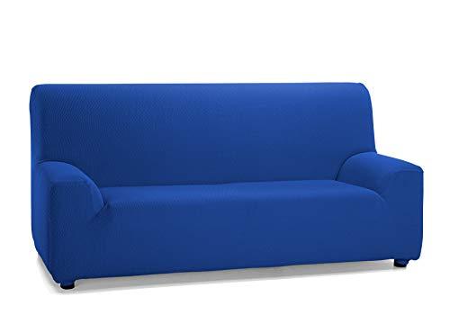 Martina Home Tunez Funda Elástica para Sofá, Tela, Azul (Eléctrico), 3 Plazas (180-240 cm)