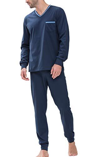 Mey Night Uni Basic Herren Schlafanzüge lang Blau 54