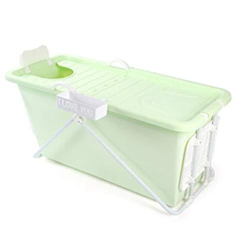 MZ volwassen inklapbaar thermostatisch bad met deksel, opbergbaar dik plastic bad vat, huishoudelijke anti-slip bad vat - dikke stalen buis beugel