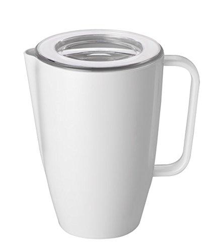 Kanne / Milchkanne aus Melamin mit transparentem Deckel aus SAN Kunststoff / Inhalt: 2 ltr., Ø 14 cm, Höhe: 21 cm | SUN