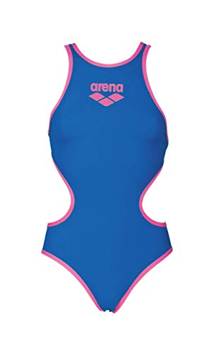 Arena W Biglogo One Piece, Costume da Bagno Intero Donna, Royal/Fluo Rosa, 40 IT