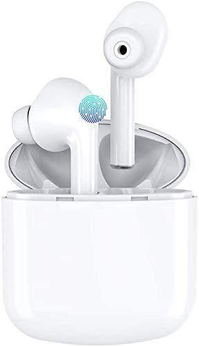 Bluetooth Kopfhörer Kabellos Noise Cancelling In Ear Ohrhörer Wireless Bluetooth 5.0 für iPhone Samsung, Weiß