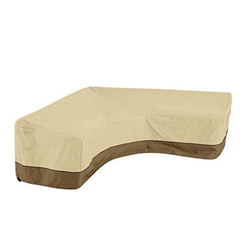 Babysbreath17 En Forma de V Muebles seccionales sofá Cubierta Exterior Couch Protector Sofá seccional Cubierta del Patio seccional sofá Protector Impermeable