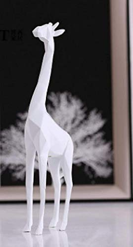 OFJM Estatuas Ornamento de Animales creativos Jirafa Origami Blanco y Negro Ornamento de Animales creativos Jirafa Origami Blanco y Negro