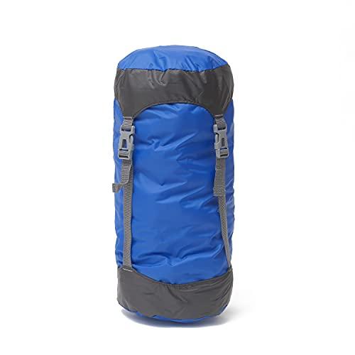 コンプレッションバッグ スタッフバッグ 防水 軽量 寝袋 圧縮バッグ [ キャンプ 登山 アウトドア などに最適!2サイズ/4色ご用意しております] コンプレッション バッグ 【sho21】 (Mサイズ/ブルー)