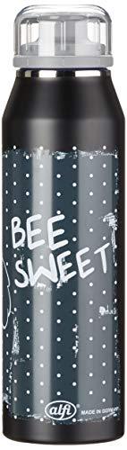 alfi 5677.127.050 Isolier-Trinkflasche isoBottle, Edelstahl Biene Maja Retro 0,5 l, 12 Stunden heiß, 24 Stunden kalt, Spülmaschinenfest, BPA-Free
