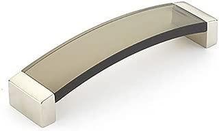 Schaub Positano Collection 5-1/16 in. (128mm) Pull, Satin Nickel - Smoke - 320-15 SM