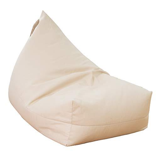 Mensu ビーズクッション 三角 人をダメにするソファー 取っ手付き コンパクト 人をダメにするクッション 疲労を軽減 びーずくっしょん もちもち だめになるクッション ベージュ