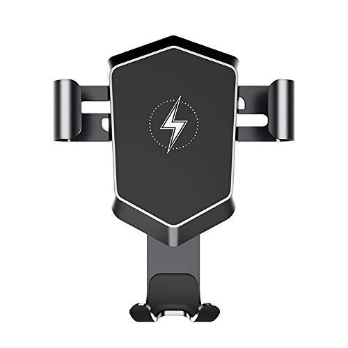 YUYANDE Soporte de cargador de coche inalámbrico, soporte de teléfono de carro rápido de 10W, ventilación de aire de la inducción automática, cargamiento rápido, soporte de montaje en coche, sensor de