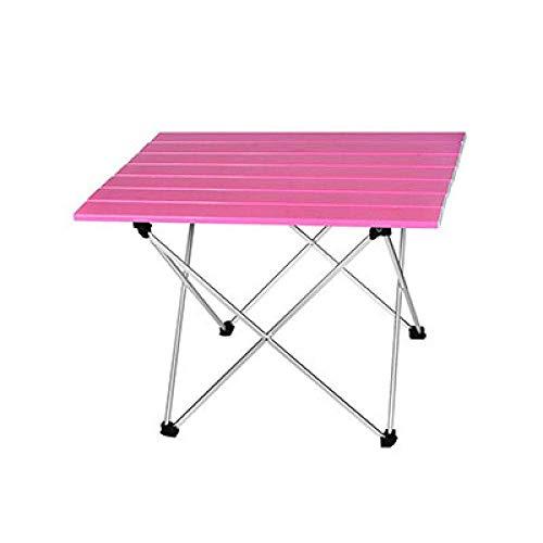1yess Klapptisch Tragbarer Tisch Faltbare Falte Camping Wandern Schreibtisch Reisen im Freien Picknick-Al-Legierung Ultra-Light, S 39.5x35x32cm, D 8bayfa (Color : S 39.5x35x32cm)