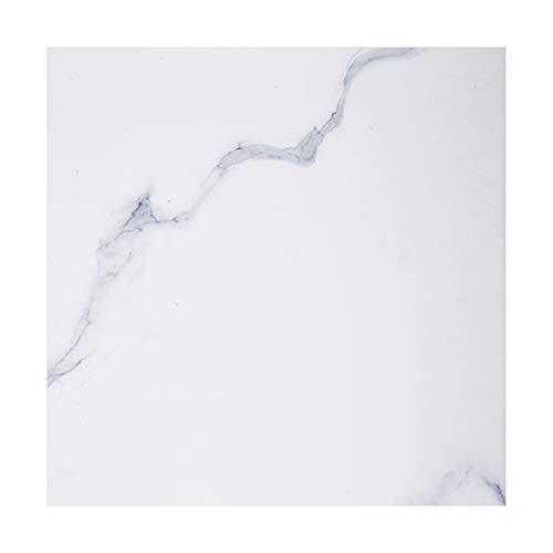 Irich - Azulejos adhesivos, efecto mármol, adhesivos impermeables, auto-adhesivos, para decoración, dormitorio, cocina, sala de estar, color negro, 5 unidades, Cloruro de polivinilo., Blanco1, 1 pieza