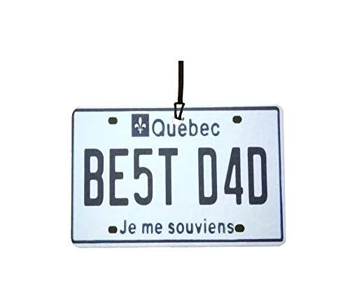 Ali Air Freshener Quebec - Best Dad Nummernschild Auto Lufterfrischer