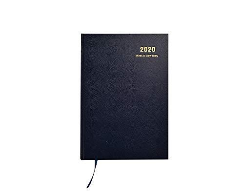 202020-Kalender mit Wochenansicht, fester Einband und Lesebändchen, Jahresplaner für Business, Büro, Zuhause, Reisen, Organisation, Termine (A5 – Blau)