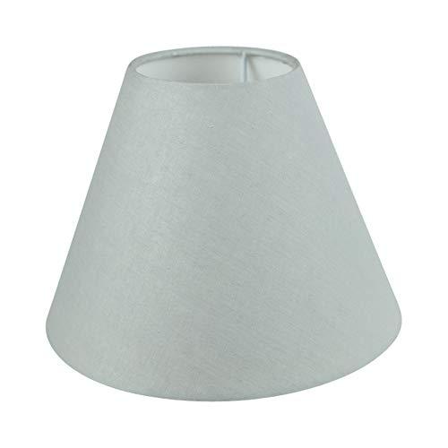 Wogati Premium Lampenschirm 20 cm x 16 cm x 9 cm / Grau / Stoff / E14 / E27 / inklusiv Adapter